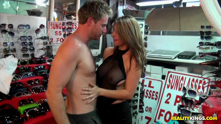 Sex appeal mature latin Jenny and male are home alone after a long time and insane making love