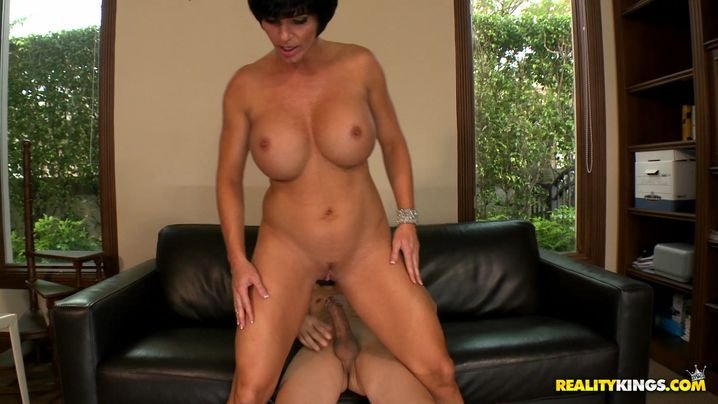 Voracious older Shay Fox is aroused and avid to fuck her bf