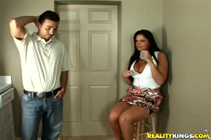 Luscious Angela Aspen was sucking mate's packing monster as deep as she could previous to she got fucked