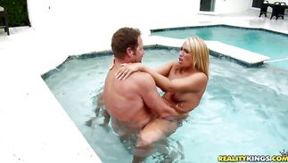 Ambitious mature blond beauty Melanie Monroe getting what she asked for